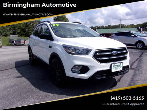 2019 Ford Escape for sale at Birmingham Automotive in Birmingham OH