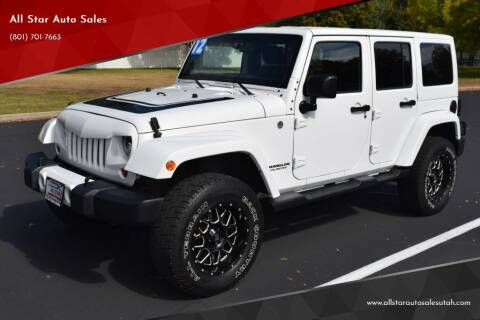 2012 Jeep Wrangler Unlimited for sale at All Star Auto Sales in Pleasant Grove UT