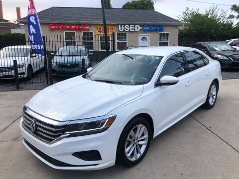 2020 Volkswagen Passat for sale at DYNAMIC CARS in Baltimore MD
