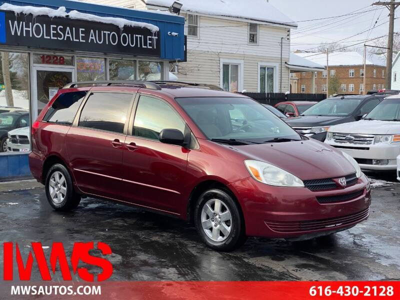 2004 Toyota Sienna for sale at MWS Wholesale  Auto Outlet in Grand Rapids MI