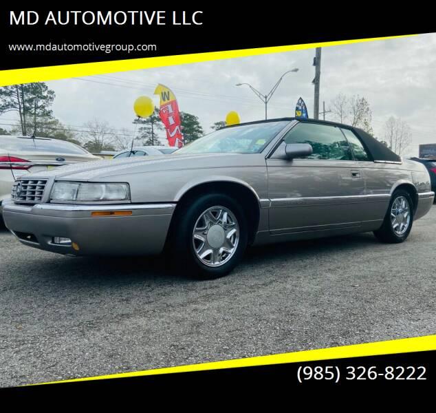 1999 Cadillac Eldorado for sale at MD AUTOMOTIVE LLC in Slidell LA