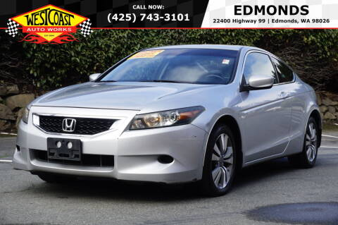 2008 Honda Accord for sale at West Coast Auto Works in Edmonds WA