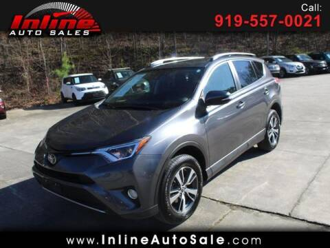 2017 Toyota RAV4 for sale at Inline Auto Sales in Fuquay Varina NC