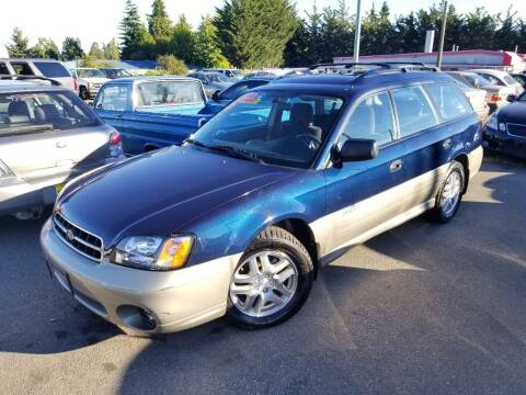 2002 Subaru Outback for sale at SS MOTORS LLC in Edmonds WA