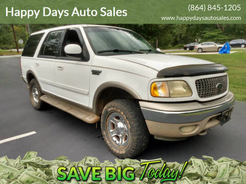 2000 Ford Expedition for sale at Happy Days Auto Sales in Piedmont SC