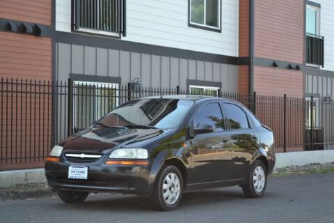 2004 Chevrolet Aveo for sale at Skyline Motors Auto Sales in Tacoma WA