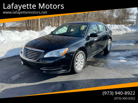 2013 Chrysler 200 for sale at Lafayette Motors 2 in Andover NJ