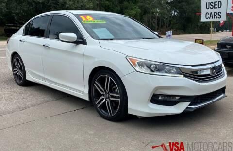 2016 Honda Accord for sale at VSA MotorCars in Cypress TX