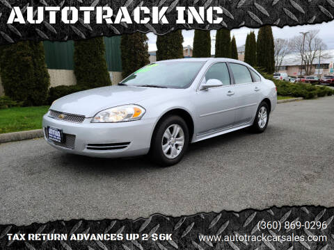 2012 Chevrolet Impala for sale at AUTOTRACK INC in Mount Vernon WA