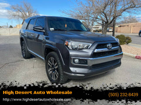 2015 Toyota 4Runner for sale at High Desert Auto Wholesale in Albuquerque NM
