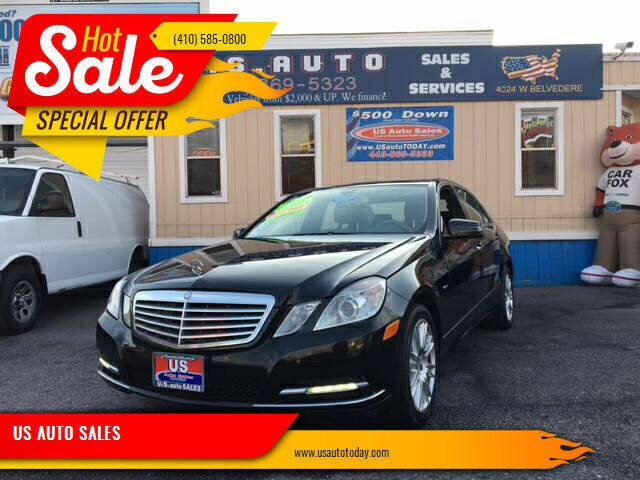 2012 Mercedes-Benz E-Class for sale at US AUTO SALES in Baltimore MD