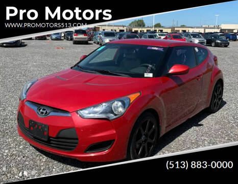 2012 Hyundai Veloster for sale at Pro Motors in Fairfield OH