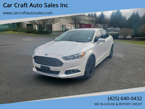 2014 Ford Fusion for sale at Car Craft Auto Sales Inc in Lynnwood WA