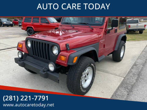 1998 Jeep Wrangler for sale at AUTO CARE TODAY in Spring TX