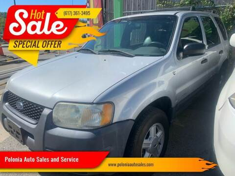 2002 Ford Escape for sale at Polonia Auto Sales and Service in Hyde Park MA