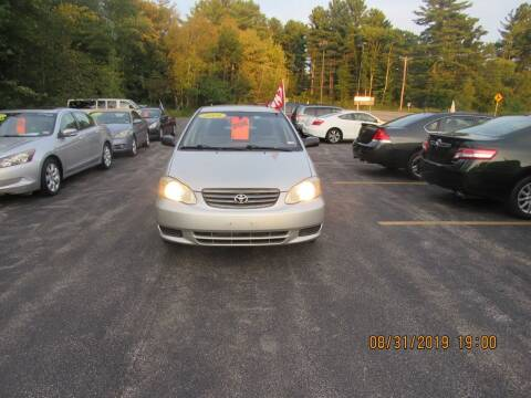 2004 Toyota Corolla for sale at Heritage Truck and Auto Inc. in Londonderry NH