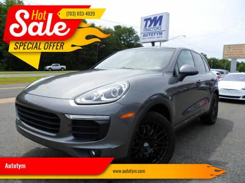 2016 Porsche Cayenne for sale at AUTOTYM INC in Fredericksburg VA