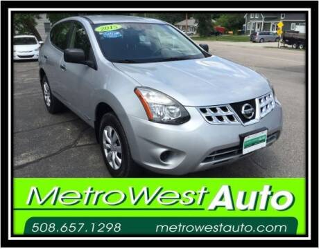 2015 Nissan Rogue Select for sale at Metro West Auto in Bellingham MA
