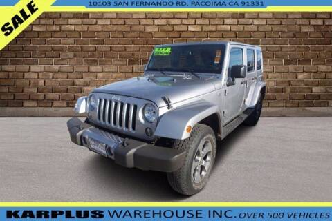 2016 Jeep Wrangler Unlimited for sale at Karplus Warehouse in Pacoima CA