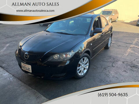 2007 Mazda MAZDA3 for sale at ALLMAN AUTO SALES in San Diego CA