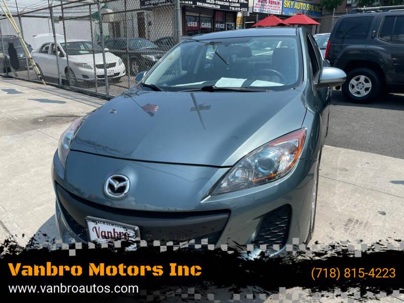 2013 Mazda MAZDA3 for sale at Vanbro Motors Inc in Staten Island NY