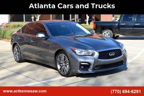 2015 Infiniti Q50 for sale at Atlanta Cars and Trucks in Kennesaw GA