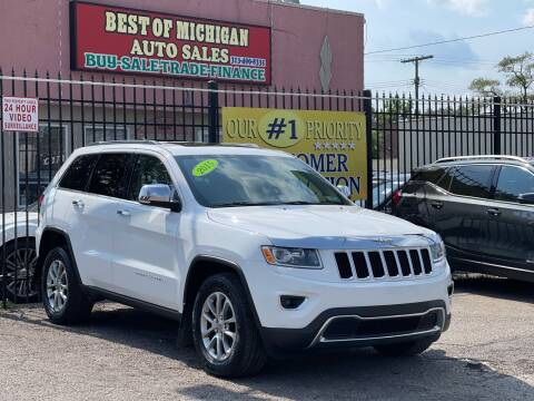 2015 Jeep Grand Cherokee for sale at Best of Michigan Auto Sales in Detroit MI