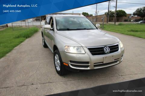 2005 Volkswagen Touareg for sale at Highland Autoplex, LLC in Dallas TX