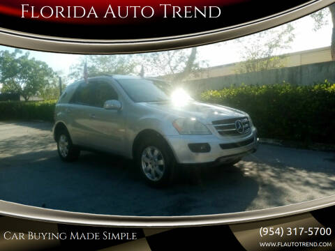 2007 Mercedes-Benz M-Class for sale at Florida Auto Trend in Plantation FL