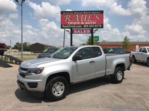 2018 Chevrolet Colorado for sale at RAUL'S TRUCK & AUTO SALES, INC in Oklahoma City OK