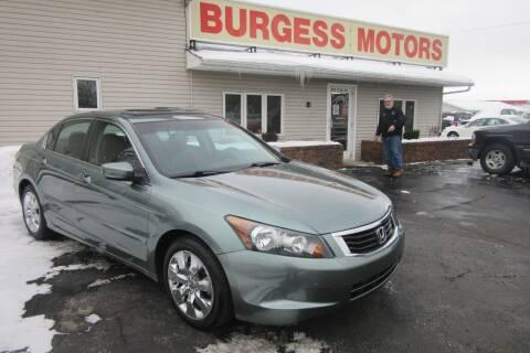 2008 Honda Accord for sale at Burgess Motors Inc in Michigan City IN