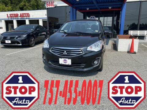 2019 Mitsubishi Mirage G4 for sale at 1 Stop Auto in Norfolk VA