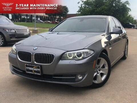 2013 BMW 5 Series for sale at European Motors Inc in Plano TX