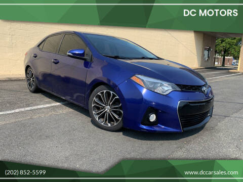 2016 Toyota Corolla for sale at DC Motors in Springfield VA