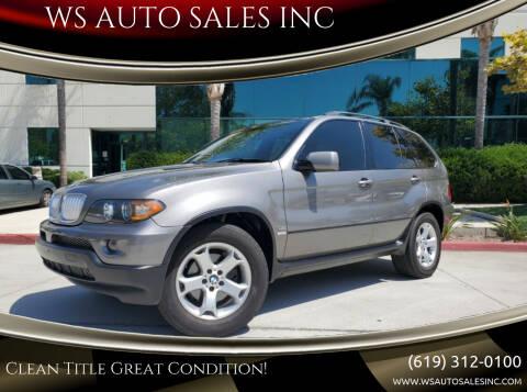 2006 BMW X5 for sale at WS AUTO SALES INC in El Cajon CA
