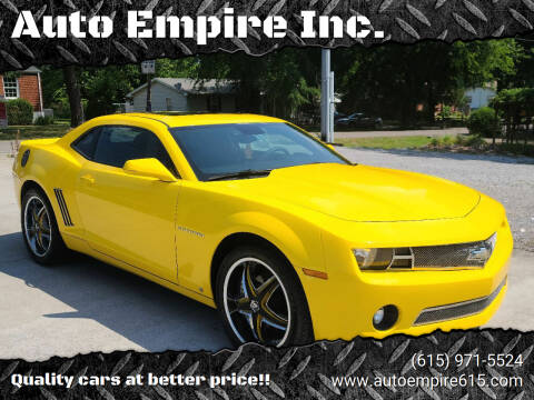 2010 Chevrolet Camaro for sale at Auto Empire Inc. in Murfreesboro TN