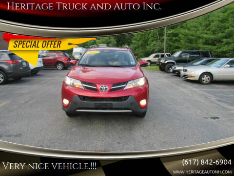 2013 Toyota RAV4 for sale at Heritage Truck and Auto Inc. in Londonderry NH