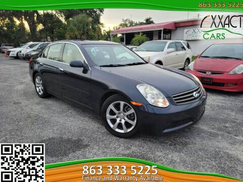 2005 Infiniti G35 for sale at Exxact Cars in Lakeland FL