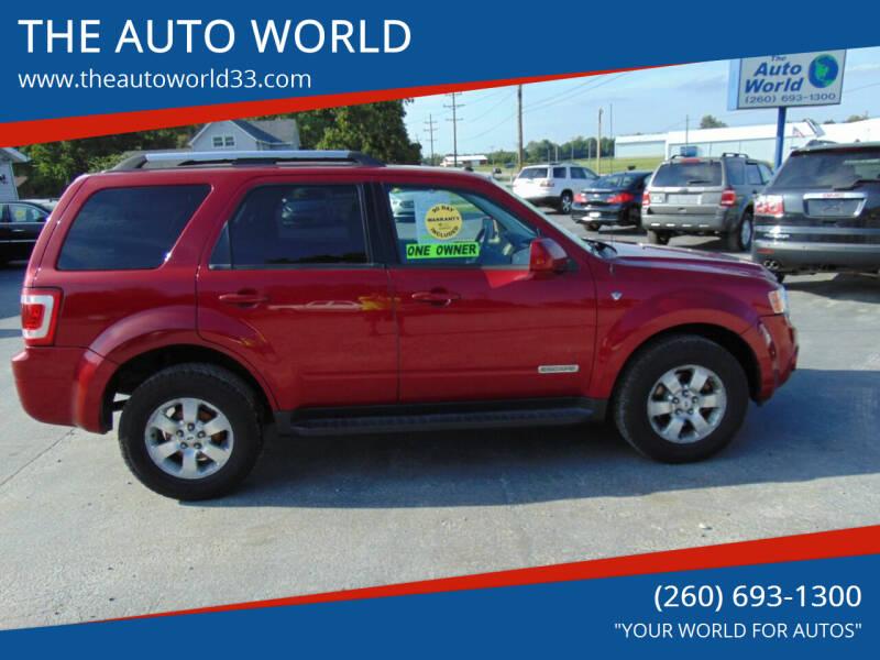 2008 Ford Escape for sale at THE AUTO WORLD in Churubusco IN
