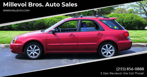 2005 Subaru Impreza for sale at Millevoi Bros. Auto Sales in Philadelphia PA
