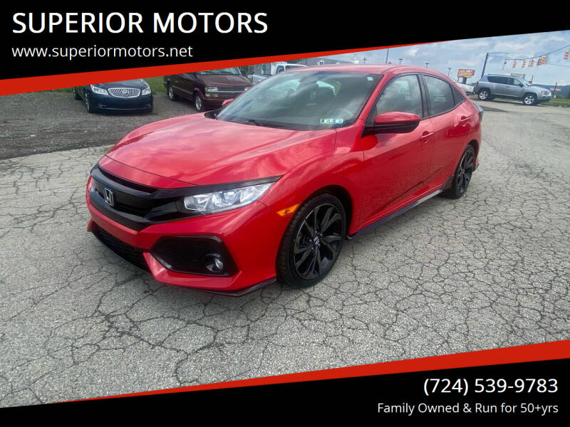 2017 Honda Civic for sale at SUPERIOR MOTORS in Latrobe PA