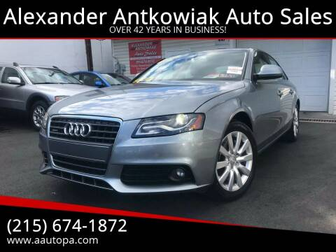 2009 Audi A4 for sale at Alexander Antkowiak Auto Sales in Hatboro PA