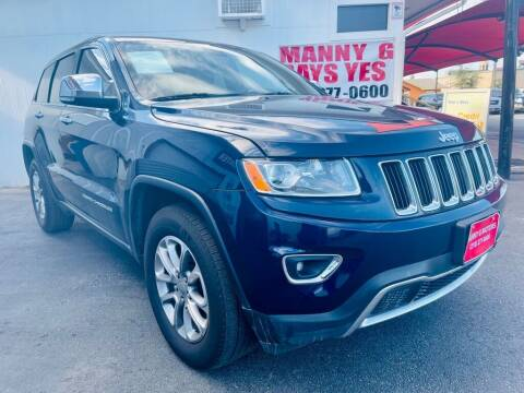 2015 Jeep Grand Cherokee for sale at Manny G Motors in San Antonio TX