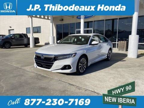 2021 Honda Accord Hybrid for sale at J P Thibodeaux Used Cars in New Iberia LA