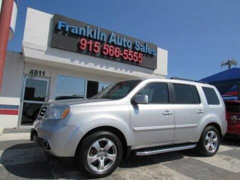2012 Honda Pilot for sale at Franklin Auto Sales in El Paso TX