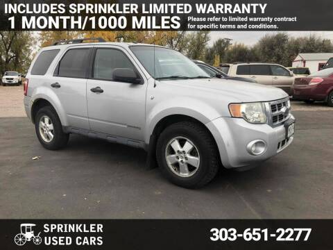 2008 Ford Escape for sale at Sprinkler Used Cars in Longmont CO
