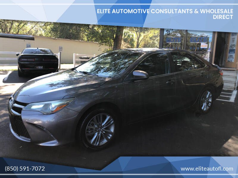 2015 Toyota Camry for sale at Elite Automotive Consultants & Wholesale Direct in Tallahassee FL
