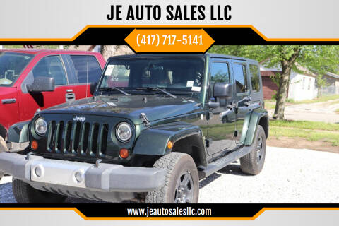 2010 Jeep Wrangler Unlimited for sale at JE AUTO SALES LLC in Webb City MO