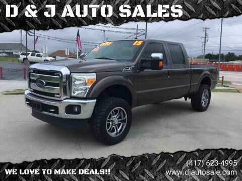 2015 Ford F-250 Super Duty for sale at D & J AUTO SALES in Joplin MO