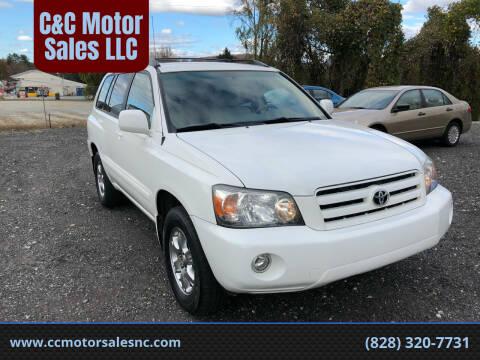2006 Toyota Highlander for sale at C&C Motor Sales LLC in Hudson NC